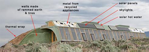 earthships autarke h user aus m ll. Black Bedroom Furniture Sets. Home Design Ideas